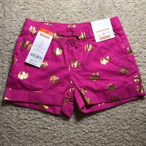 NWT Gymboree elephant gold foil midi shorts size 4